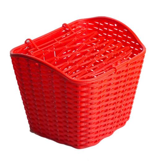 Kosár első piros műanyag