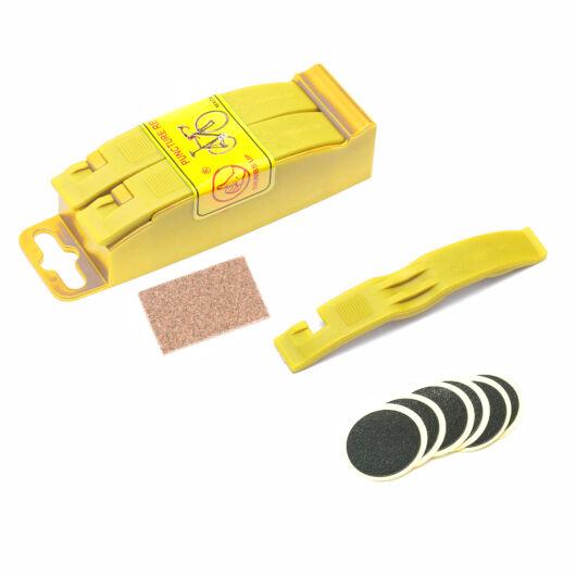 Gumijavító készlet sárga